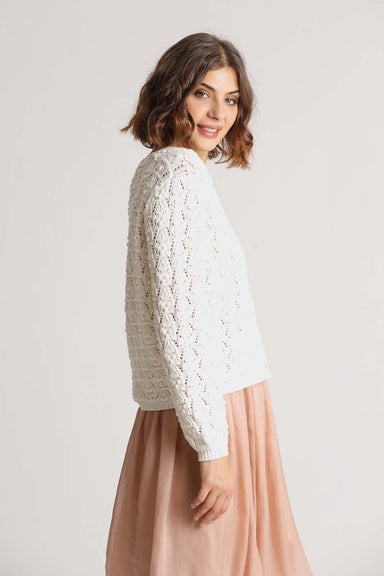 Cardigan crochet structure