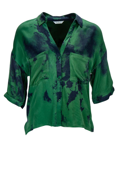 Blouse chest pocket greenbatic