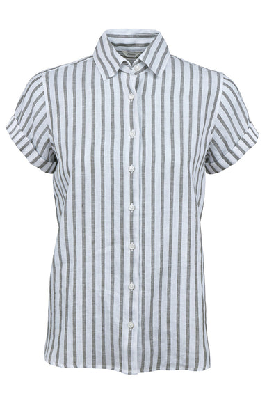 Shirt, back pleat short sleeve