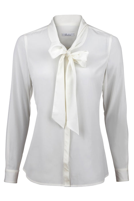 Feminine blouse, long sleeve, bow