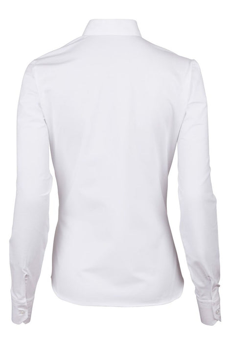 Slimline Shirt With Jersey Back