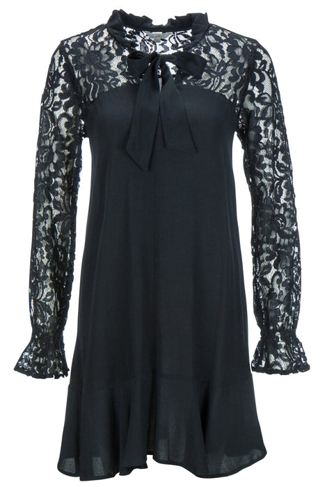 Lace patch dress
