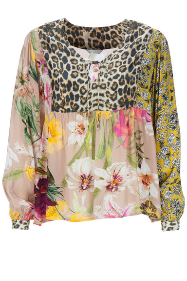 Blouse wild flower patch print