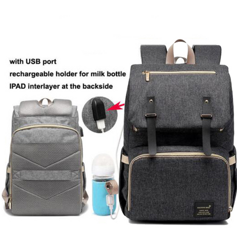 Image of Lynda USB diaper Backpack bag