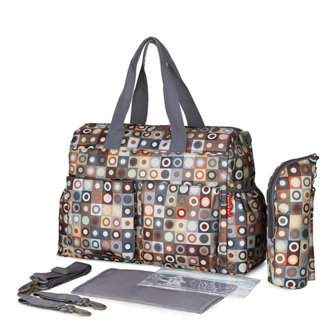 Image of Waterproof Large capacity Diaper Bag Latte