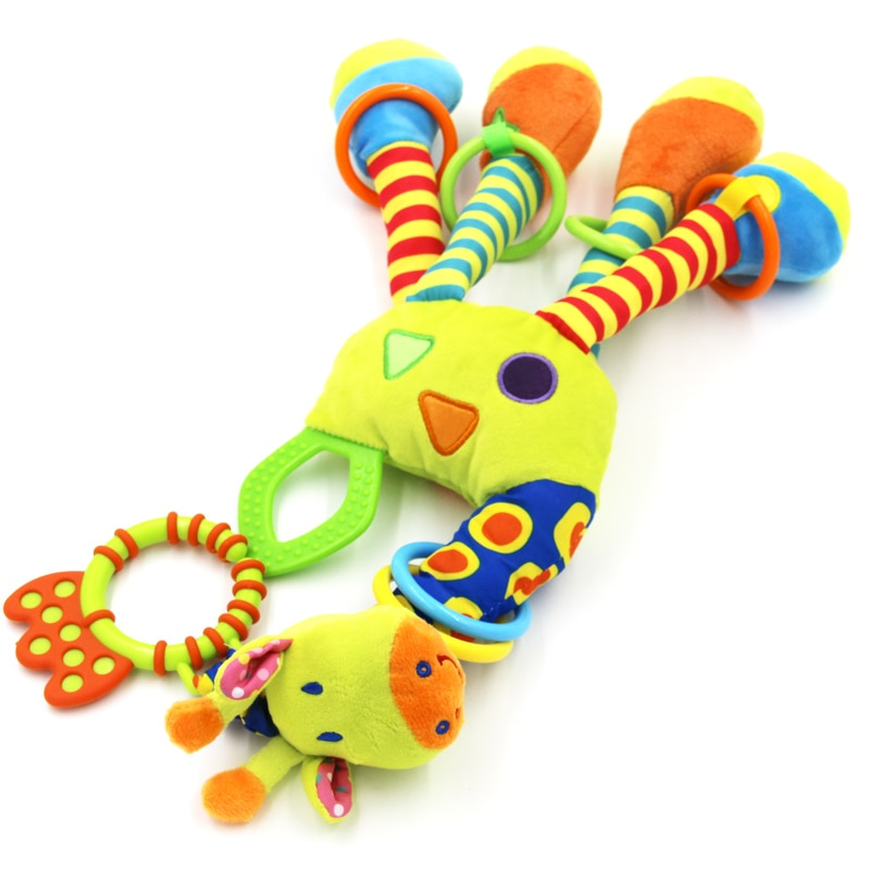 Plush Giraffe Infant Rattle and Teether Toy