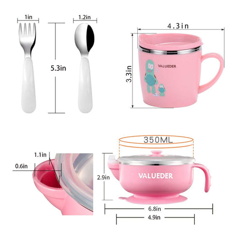 Image of Complete Ergonomic Toddler Feeding Set