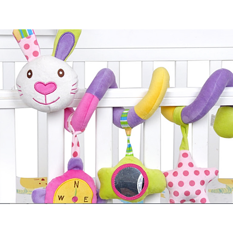 Baby spiral crib or stroller toy