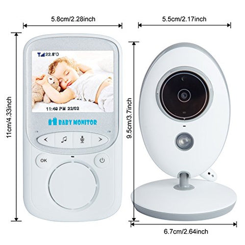 Image of Wireless Video Baby Monitor with Temp & Night Vision