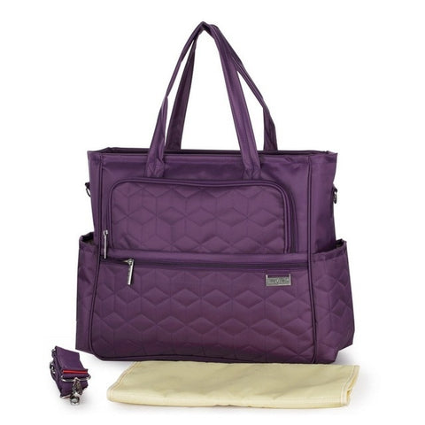 Image of Oxford Plaid Maternity bag Magestic