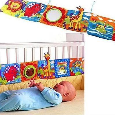 Image of Educational Baby Crib soft bumper