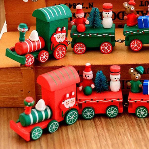 Image of Hand Crafted Wood Train