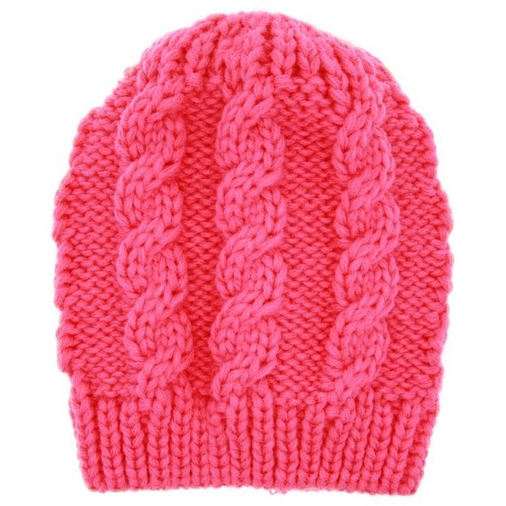 Winter Warm safe for scalp knit beanie for infants