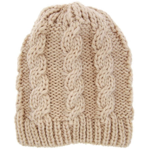 Image of Winter Warm safe for scalp knit beanie for infants