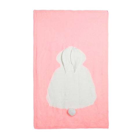 Image of Cute Baby Wool Rabbit Blanket and Bathing Towel