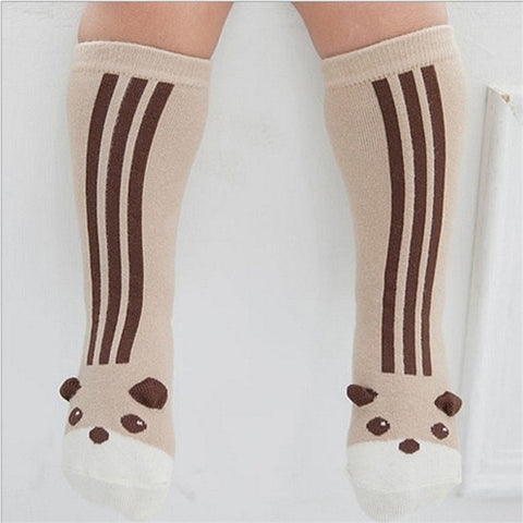 Animal Pattern Anti-slip Knee High Socks 2 Pairs