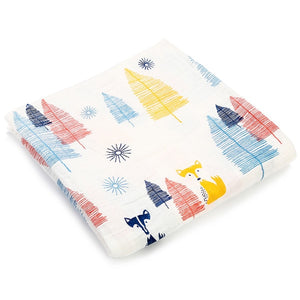 Forest Fox Cotton Collection Muslin Baby Soft  Swaddles