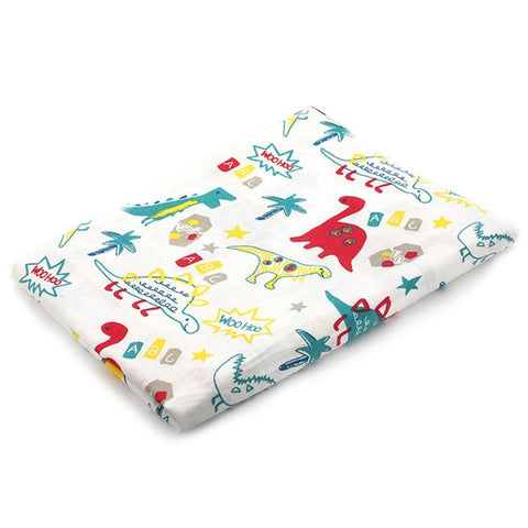 Image of Elephant Collection Cotton Muslin Baby Soft  Swaddles