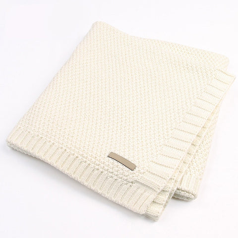 Knitted Baby Muslin Blankets