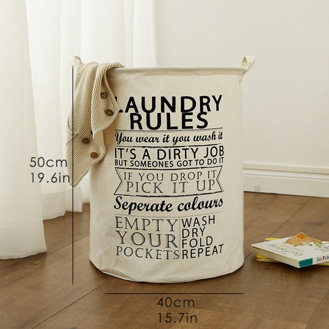 Image of Large Baby Laundry Basket or Toy Storage Bag
