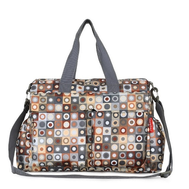 Waterproof Large capacity Diaper Bag Latte