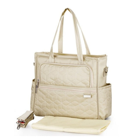 Image of Oxford Plaid Maternity bag Pearl