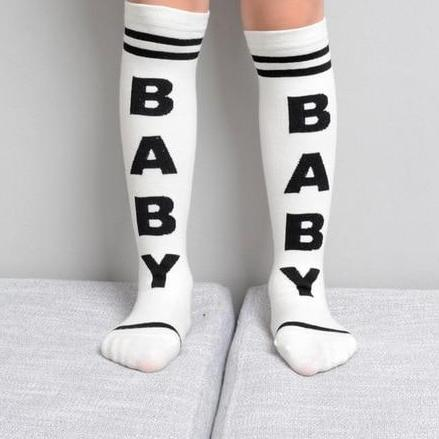 Kids Striped Sports Knee High Socks