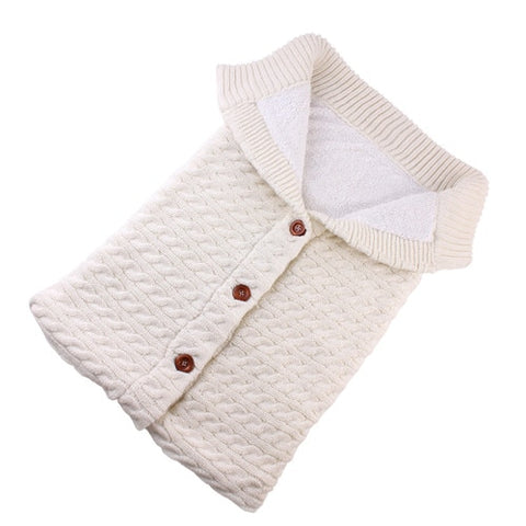 Image of Knitted Cotton Baby Sleeping Bag