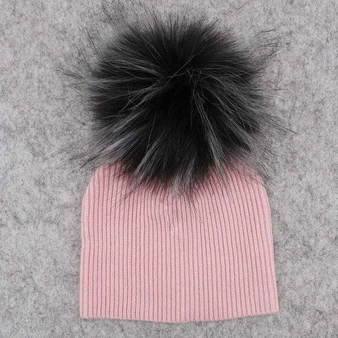 Image of Baby Pom Pom Thick Winter Beanie