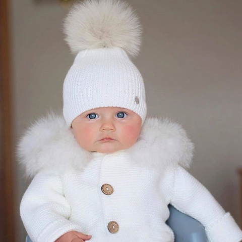 Image of Winter Knitted baby romper