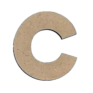 Wood Letters - ''C'' (Two Pack)