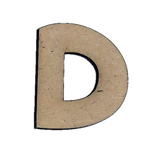 Wood Letters - ''D'' (Two Pack)