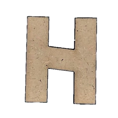 Wood Letters - ''H'' (Two Pack)