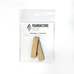 Wood Letters - ''I'' (Two Pack)