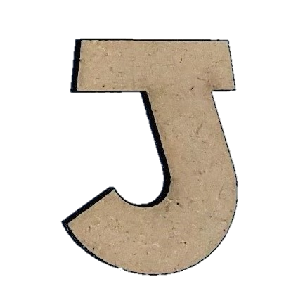 Wood Letters - ''J'' (Two Pack)