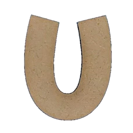 Wood Letters - ''U'' (Two Pack)
