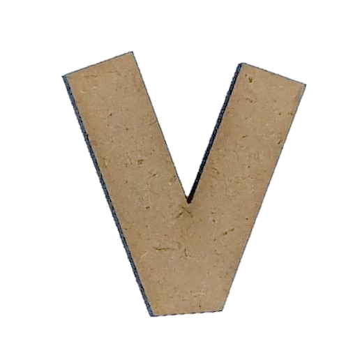 Wood Letters - ''V'' (Two Pack)