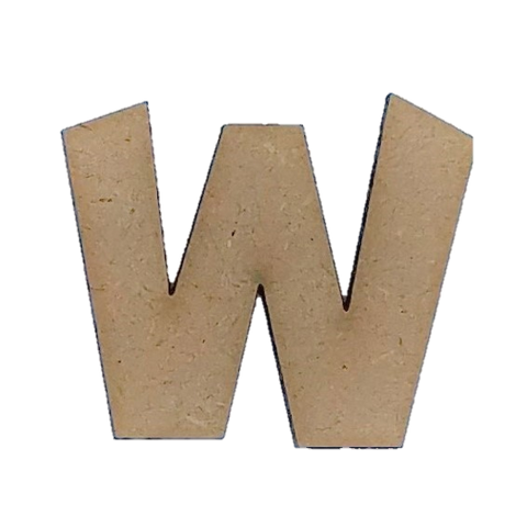 Wood Letters - ''W'' (Two Pack)