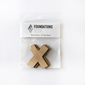 Wood Letters - ''X'' (Two Pack)