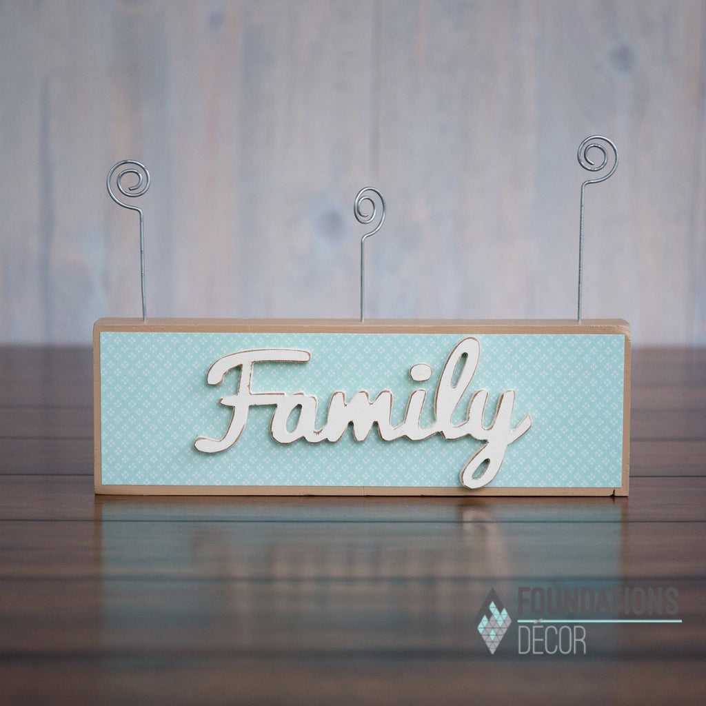 Picture Holder - Family Wood Only
