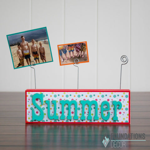 Picture Holder - Block & 3 Photo Holders