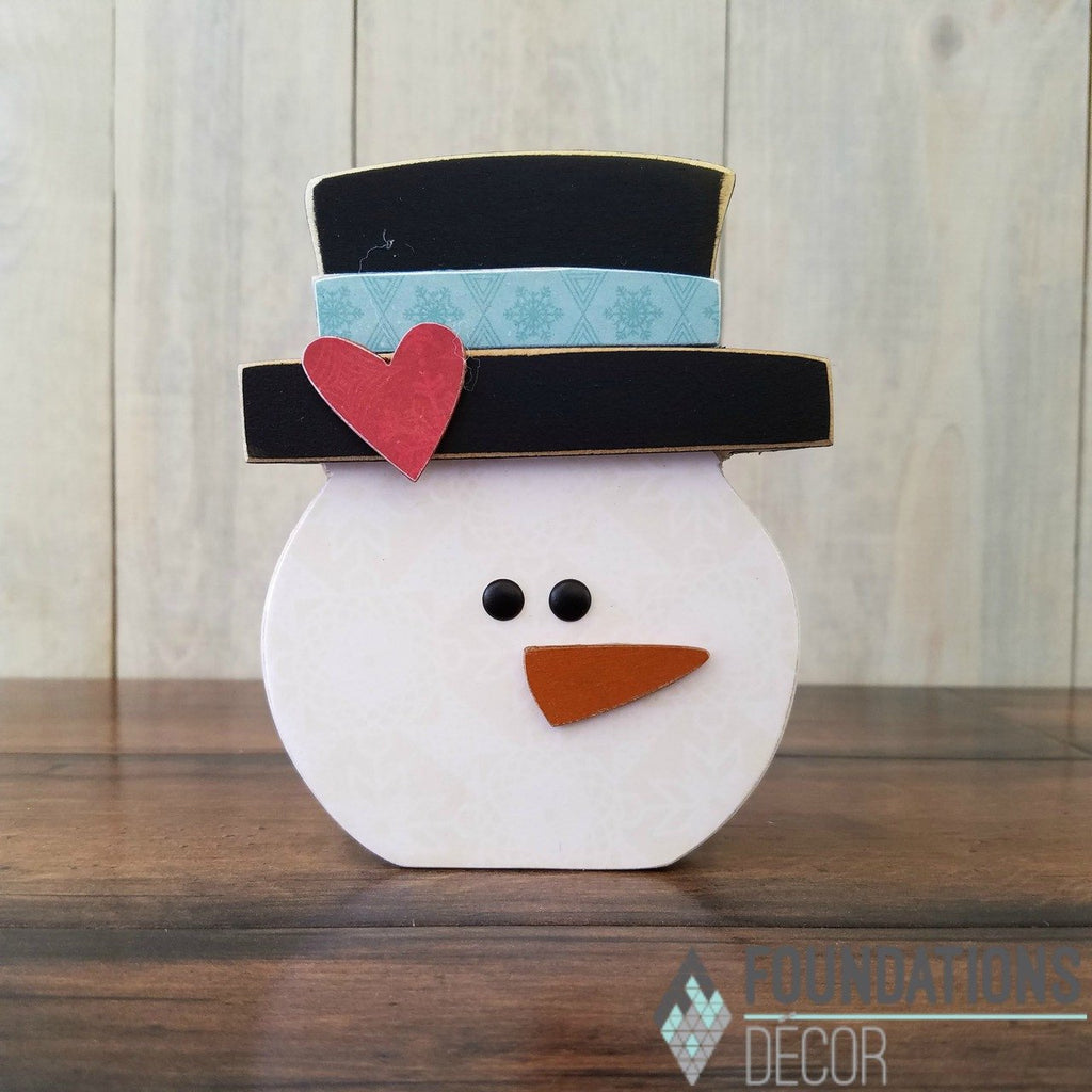 January O - Snowman  in Hat