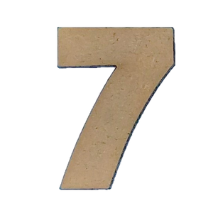 Wood Numbers - ''7'' (Two Pack)