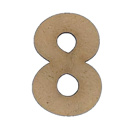 Wood Numbers - ''8'' (Two Pack)