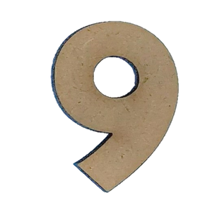 Wood Numbers - ''9'' (Two Pack)