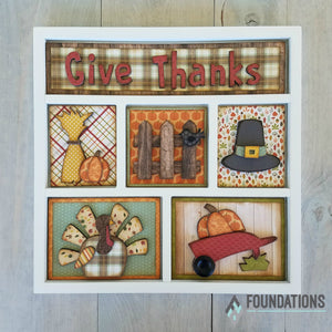 Thanksgiving Shadow Box Kit