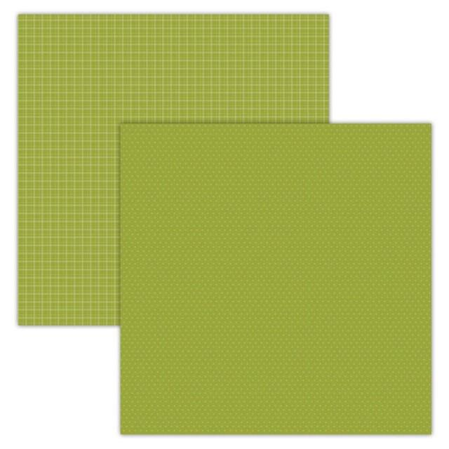 Foundation Paper - Plaid / Dots - Green