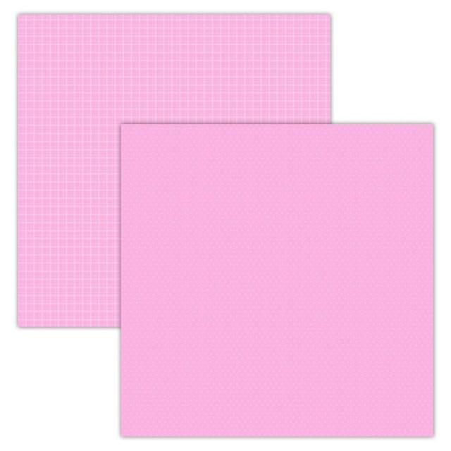 Foundation Paper - Plaid / Dots - Pink