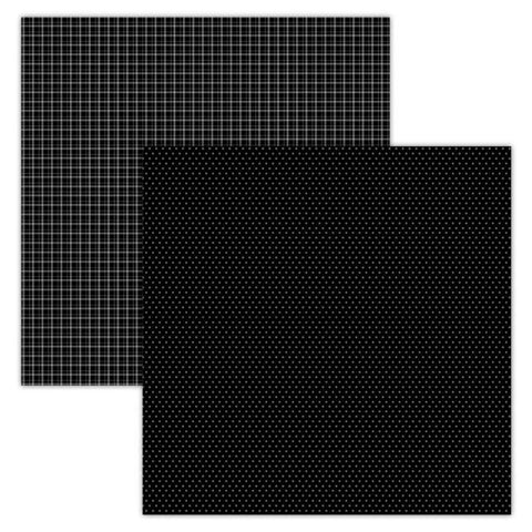 Foundation Paper - Plaid / Dots - Black