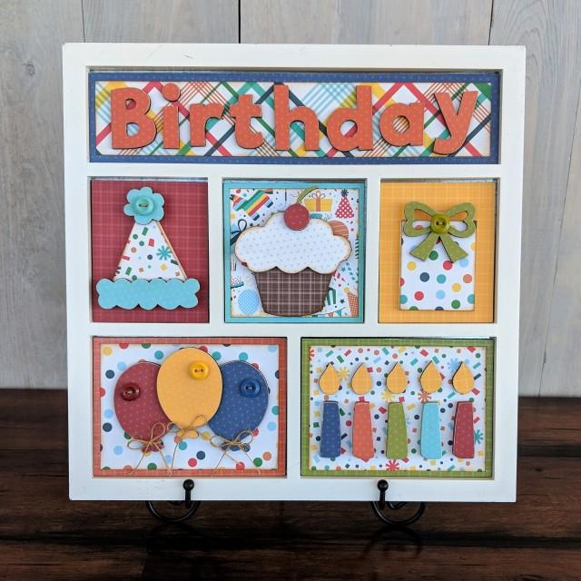 Birthday Shadow Box Kit
